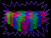 UV engångsglas 25 cl -  i blandade färger  25-pack