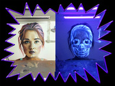 UV målarfärg Osynlig  Vit  100 ml